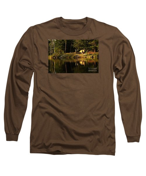Long Sleeve T-Shirt featuring the photograph Lakeside Campsite by Larry Ricker