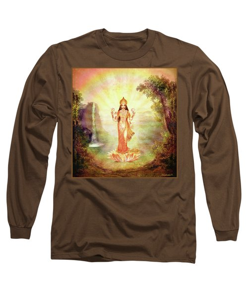 Lakshmi With The Waterfall Long Sleeve T-Shirt