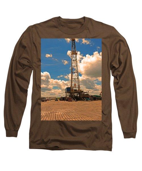 Land Oil Rig Long Sleeve T-Shirt