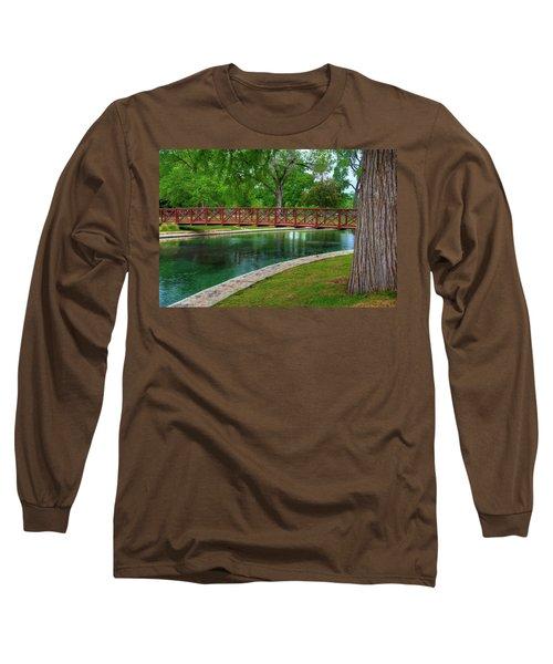 Landa Park Bridge Long Sleeve T-Shirt by Kelly Wade