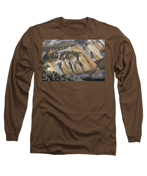 Long Sleeve T-Shirt featuring the photograph Landmannalaugar Iceland by Rudi Prott