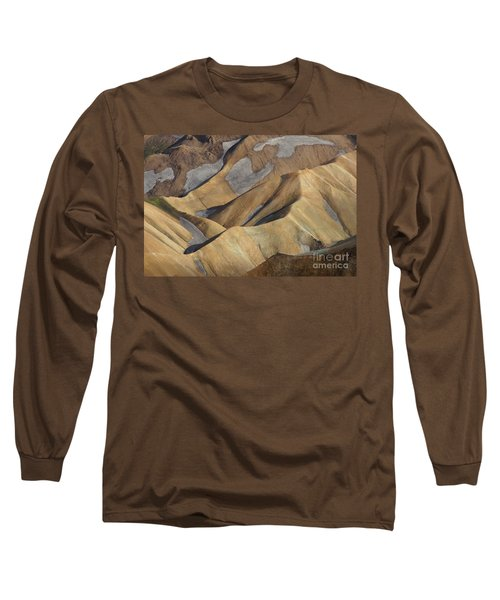Long Sleeve T-Shirt featuring the photograph Landmannalaugar Natural Art Iceland by Rudi Prott