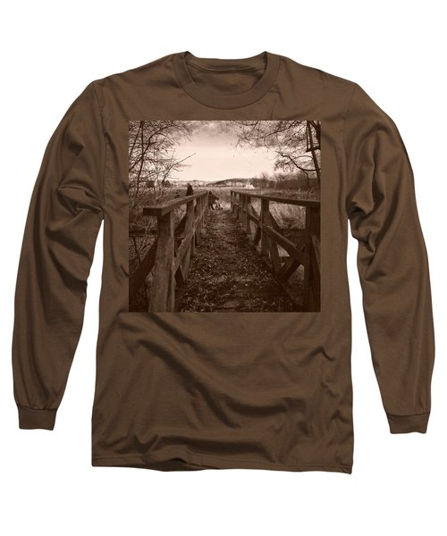 #landscape #bridge #family #tree Long Sleeve T-Shirt