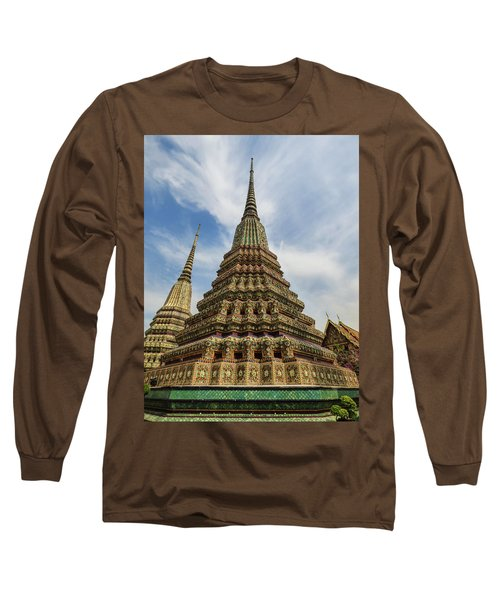 Large Colorful Stupa At Wat Pho Long Sleeve T-Shirt