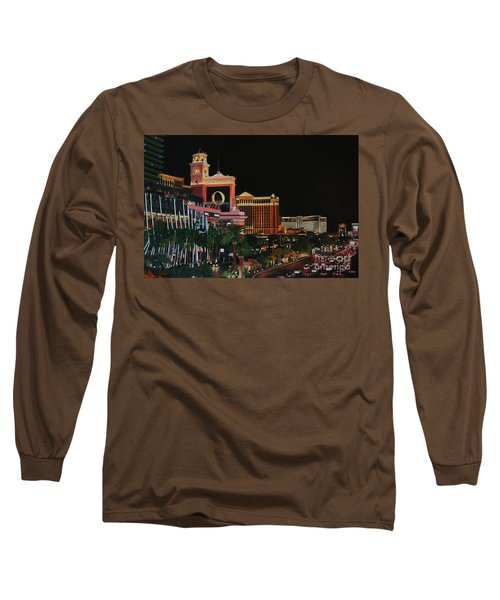 Las Vegas Strip Oil On Canvas Painting Long Sleeve T-Shirt