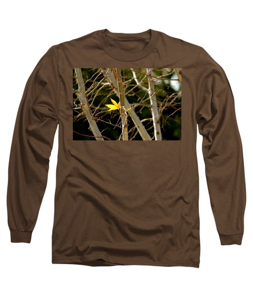 Long Sleeve T-Shirt featuring the photograph Last Leaf by Kume Bryant