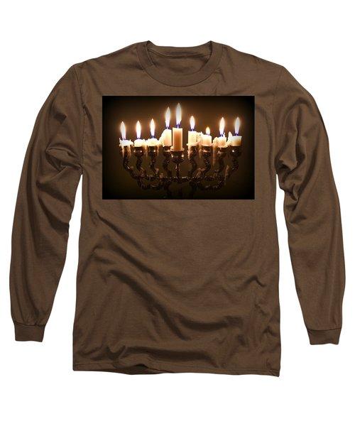 Last Night Of Chanukah Long Sleeve T-Shirt