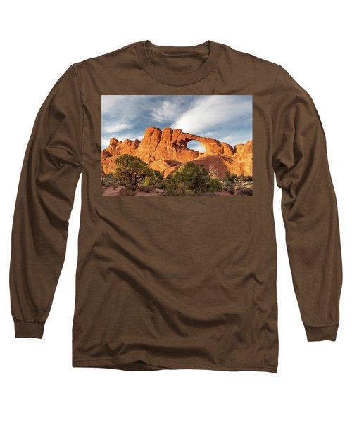 Late Afternoon Light On Skyline Arch Long Sleeve T-Shirt