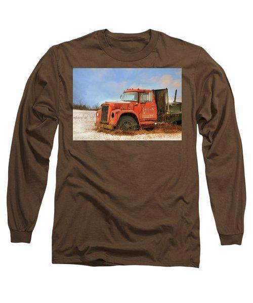 Long Sleeve T-Shirt featuring the photograph Latsha Lumber Truck by Lori Deiter