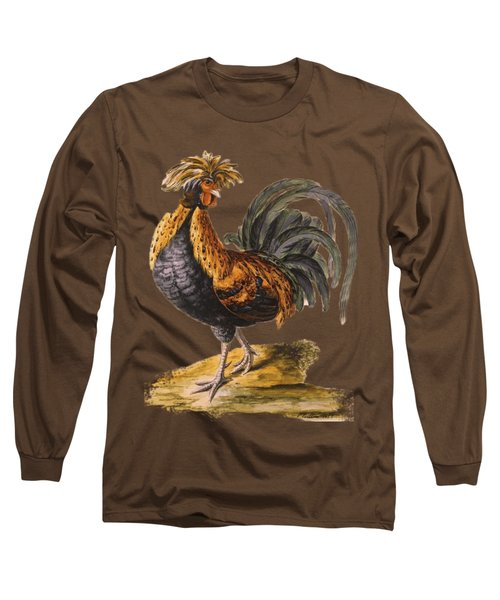 Le Coq Rooster T Shirt Design Long Sleeve T-Shirt by Bellesouth Studio