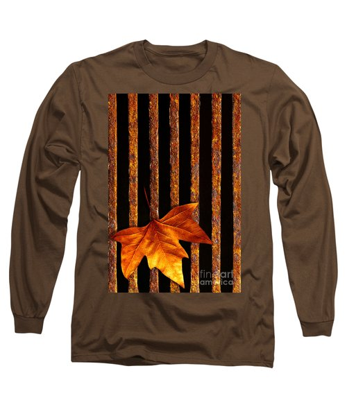 Leaf In Drain Long Sleeve T-Shirt