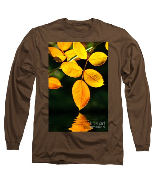 Leafs Over Water Long Sleeve T-Shirt by Carlos Caetano