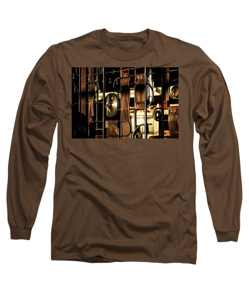 Leather Straps At The Harley Davidson Museum Long Sleeve T-Shirt