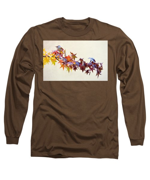 Leaves Of Many Colors Long Sleeve T-Shirt by AJ Schibig