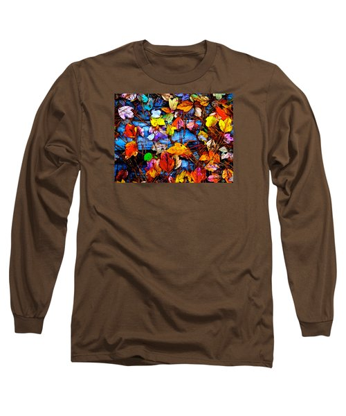 Leaves Of Colors  Long Sleeve T-Shirt by Cathy Dee Janes