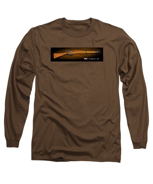 Lee Enfield British Firearm Study Long Sleeve T-Shirt by John Wills