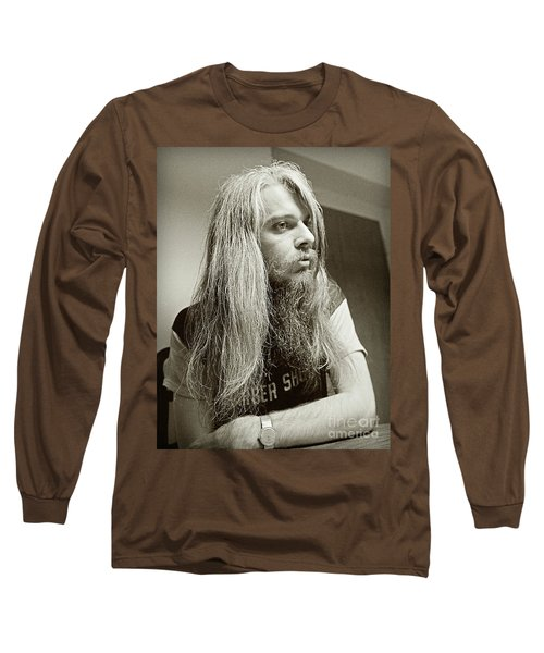 Long Sleeve T-Shirt featuring the photograph Leon Russell 1970 by Martin Konopacki Restoration