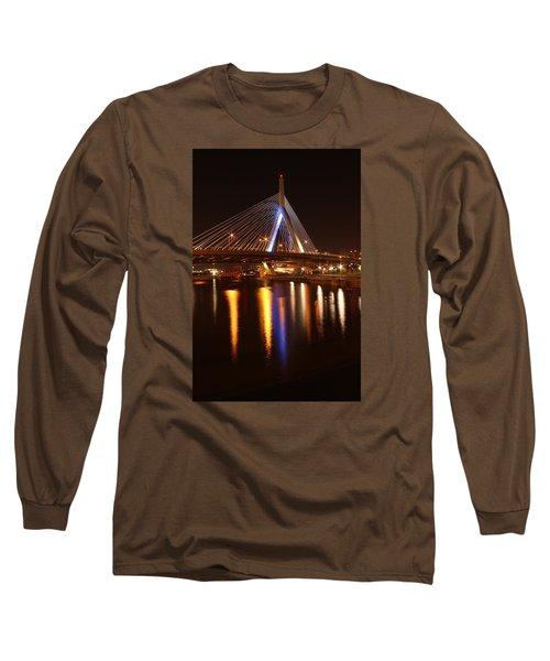 Leonard P. Zakim Bunker Hill Bridge Reflection 2 Long Sleeve T-Shirt