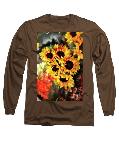 Les Tournesols Long Sleeve T-Shirt by Jack Torcello