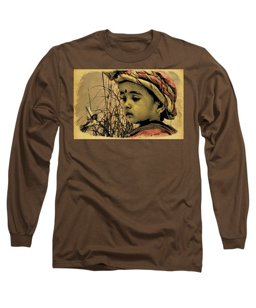 Long Sleeve T-Shirt featuring the digital art Let Us Play Together by Bliss Of Art