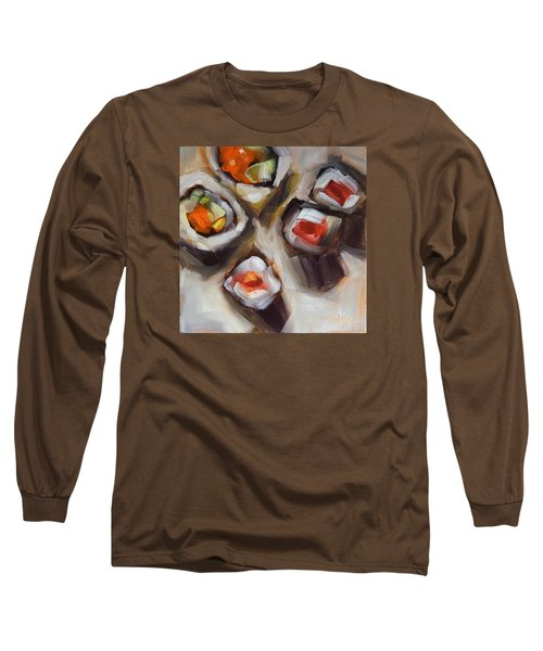 Let's Do Sushi Long Sleeve T-Shirt by Tracy Male