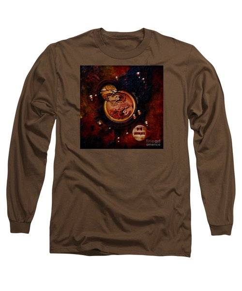 Long Sleeve T-Shirt featuring the painting Life Time Machine by Alexa Szlavics