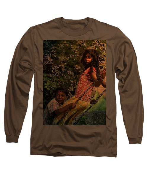 Long Sleeve T-Shirt featuring the digital art Life With You by Bliss Of Art