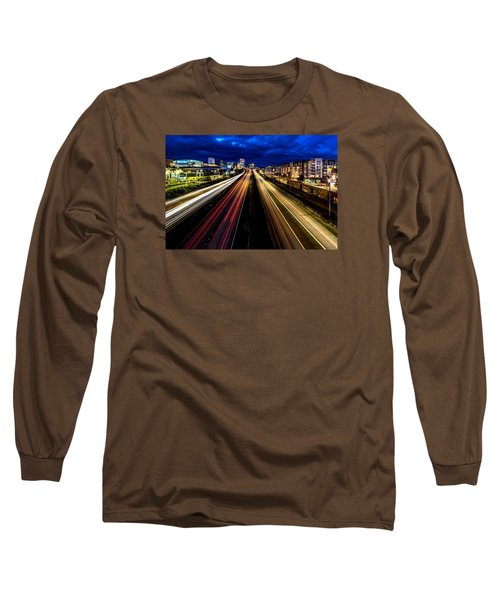 Long Sleeve T-Shirt featuring the photograph Light Streaks On 705 by Rob Green
