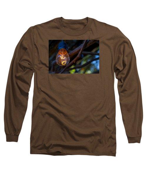 Lightbulb Long Sleeve T-Shirt by Derek Dean