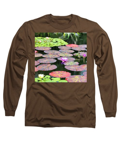 Lily Pads And Parasols Long Sleeve T-Shirt
