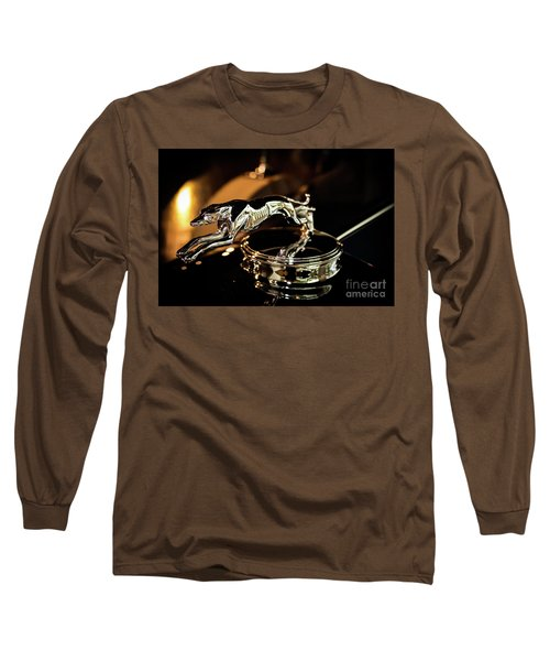 Lincoln Greyhound Hood Ornament Long Sleeve T-Shirt
