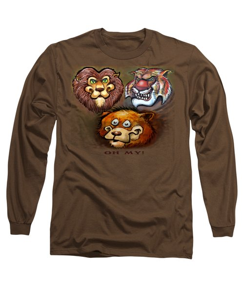 Lions And Tigers And Bears Oh My Long Sleeve T-Shirt by Kevin Middleton