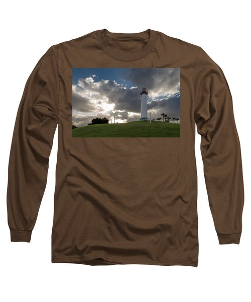 Lion's Lighthouse For Sight - 2 Long Sleeve T-Shirt by Ed Clark