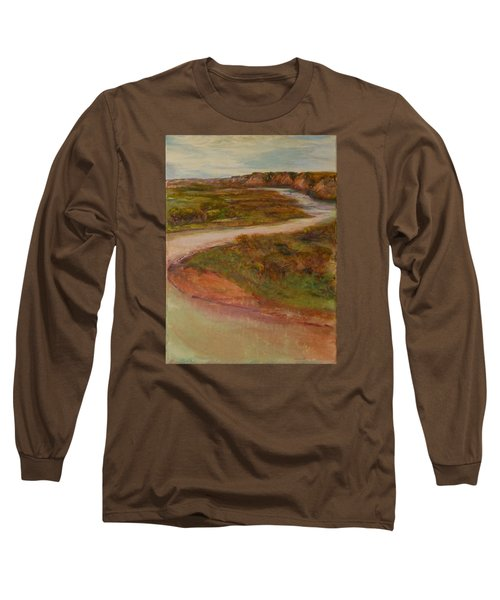 Little Missouri Overlook  Long Sleeve T-Shirt by Helen Campbell