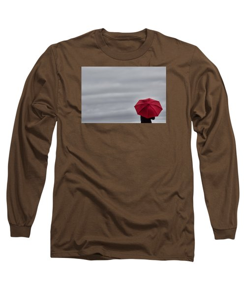 Little Red Umbrella In A Big Universe Long Sleeve T-Shirt