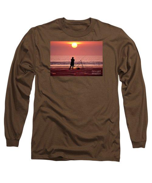 Llangennith Fishing At Sundown Long Sleeve T-Shirt