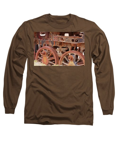 Long Sleeve T-Shirt featuring the photograph Locomotive In The Desert by Aidan Moran
