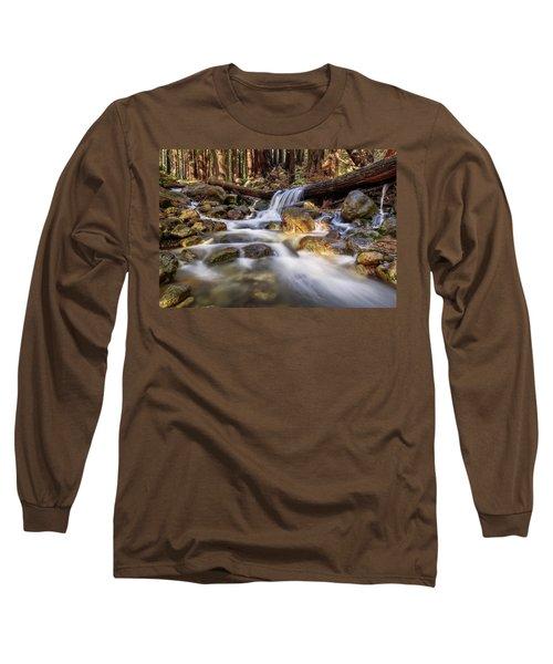 Log Falls On Limekiln Creek Long Sleeve T-Shirt
