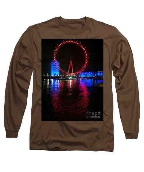 London Eye At Night Long Sleeve T-Shirt