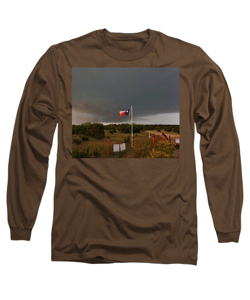 Lone Star Supercell Long Sleeve T-Shirt by Ed Sweeney