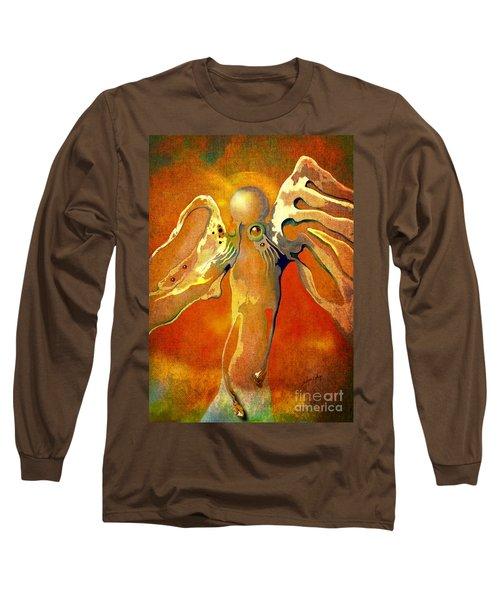 Lonely Angel Long Sleeve T-Shirt by Alexa Szlavics