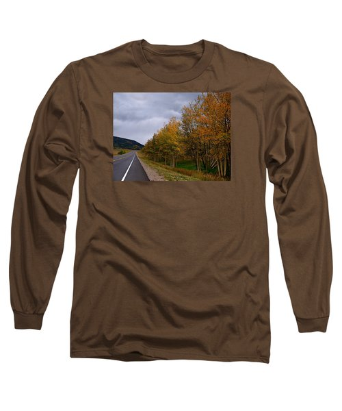 Long Sleeve T-Shirt featuring the photograph Long Lonesome Hiway by Laura Ragland
