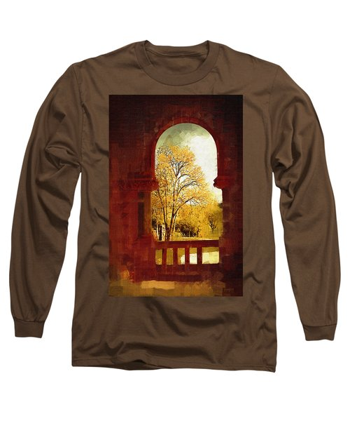 Long Sleeve T-Shirt featuring the digital art Lookin Out by Holly Ethan