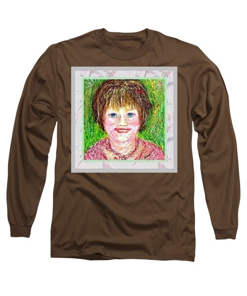 Long Sleeve T-Shirt featuring the pastel Lost In Childhood by Desline Vitto