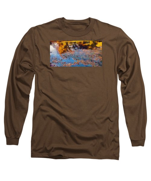 Long Sleeve T-Shirt featuring the photograph Lost In The Pond by Spyder Webb