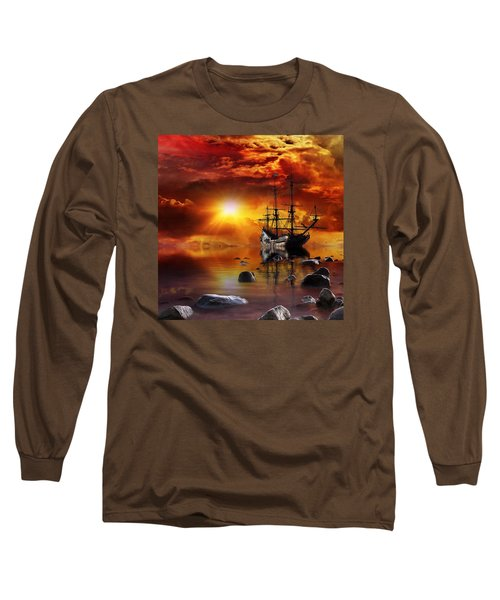 Lost In Time Long Sleeve T-Shirt by Gabriella Weninger - David