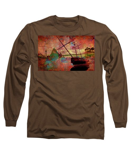 Long Sleeve T-Shirt featuring the digital art Lost Island by Greg Sharpe