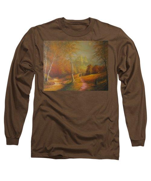 Lothlorien Long Sleeve T-Shirt by Joe  Gilronan