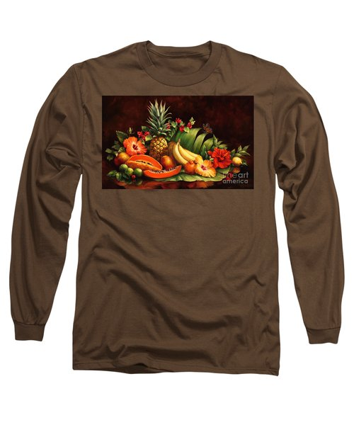 Lots Of Fruit Long Sleeve T-Shirt by Laurie Hein