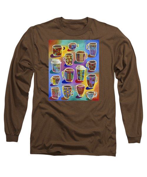 Long Sleeve T-Shirt featuring the painting Lots Of Lattes by Carla Bank